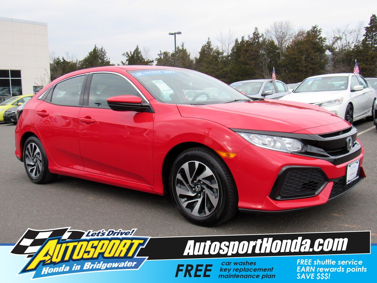 Certified Pre Owned 2017 Honda Civic Hatchback Lx Hatchback In
